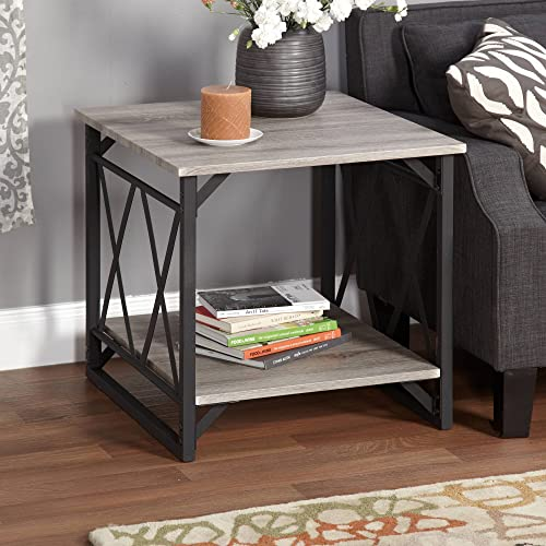 Jaxx Collection End Table, Multiple Colors Black Gray