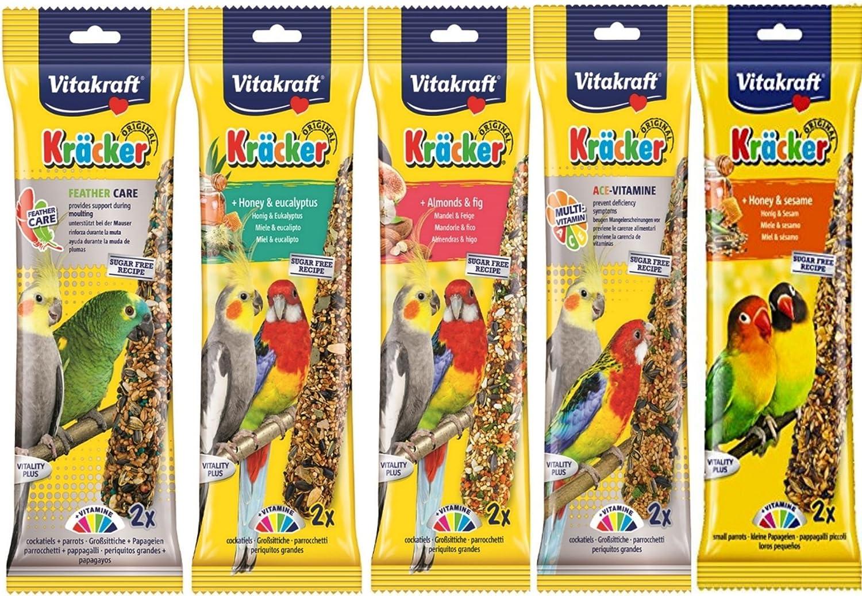 5 paquetes de dos 10 pegatinas de cockat/íel para colgar jaula de p/ájaros de p/ájaro. Variedad mezclada VITAKRAFT