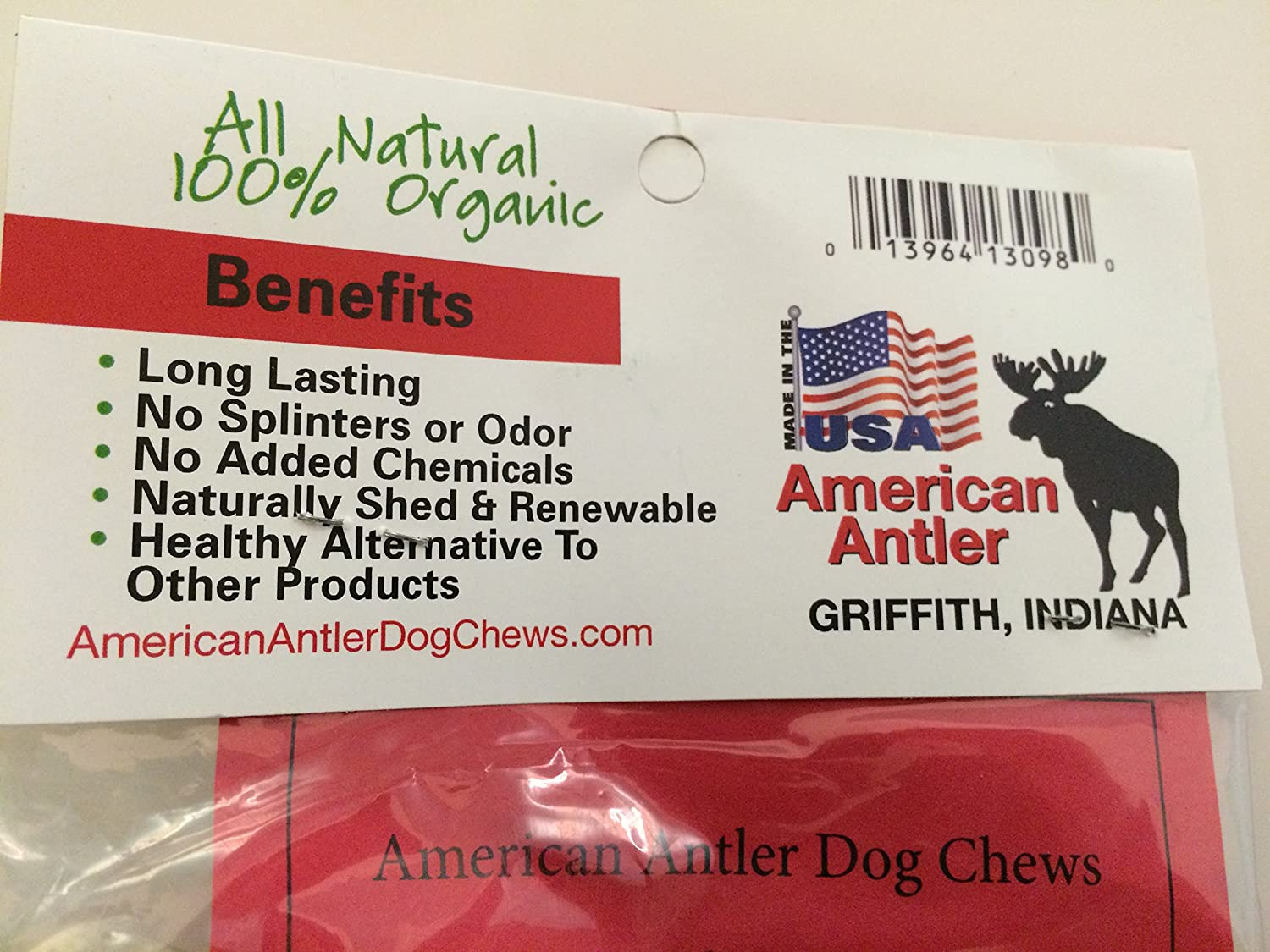 American Antler Dog Chews Antler Dog Chew, X-Large, Pack of 2