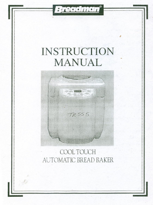 Amazon.com: breadman tr555 Manual de instrucciones y recetas ...
