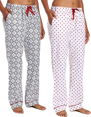 Noble Mount Pantalon De Franela Para Mujer 100 Algodon Blanco Crudo M Amazon Es Ropa Y Accesorios