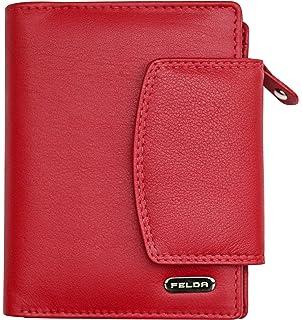 a9648970b1abb Felda - Damen Geldbörse aus Echtleder - Kartenfächer   Münzfach - RFID- Blocker - Mehrfarbig