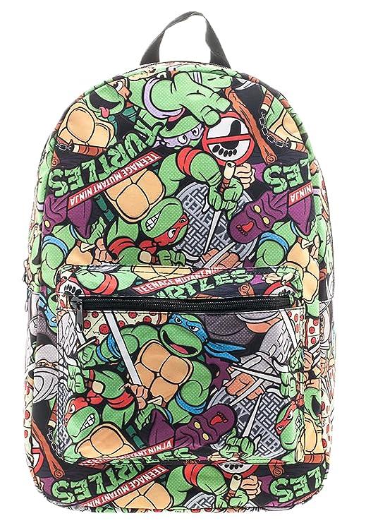 Bioworld Teenage Mutant Ninja Turtles Cartoon Backpack Standard