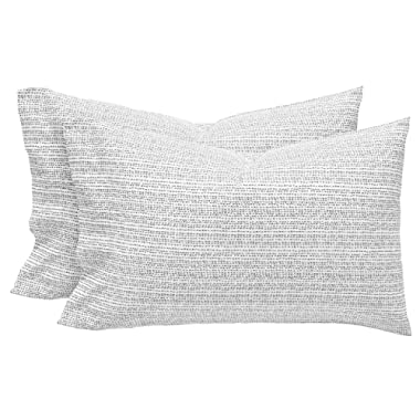 Rivet Half Moon Sateen 100% Cotton Pillowcase Set, King, Pewter