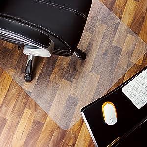 "Marvelux 48"" x 60"" Heavy Duty Polycarbonate (PC) Rectangular Chair Mat for Hard Floors | Transparent Hardwood Floor Protector | Multiple Sizes"