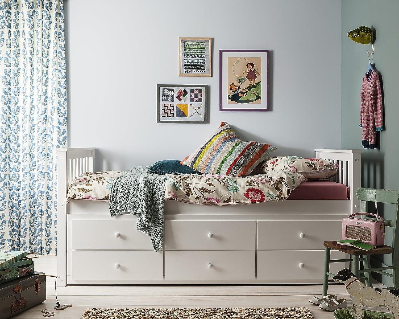 Cama nido Loki de Noa y Nani, cama individual con cajones y cama nido extraíble