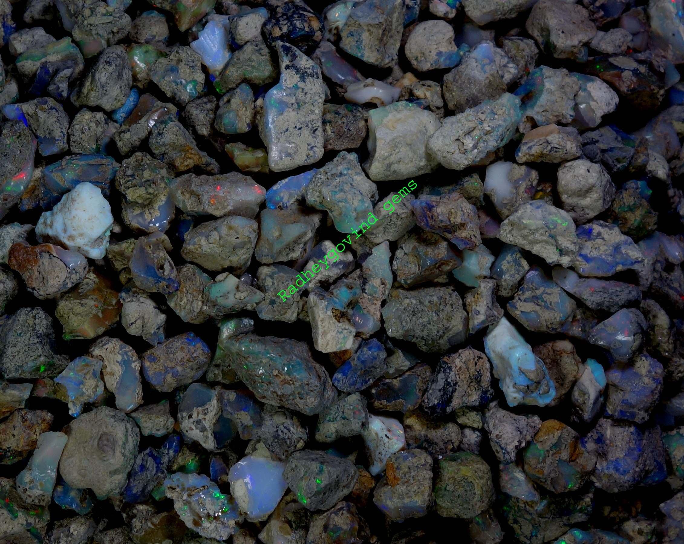 251Cts. Natural Ethiopian Multi Color Opal Rough Wholesale Lot Gemstones