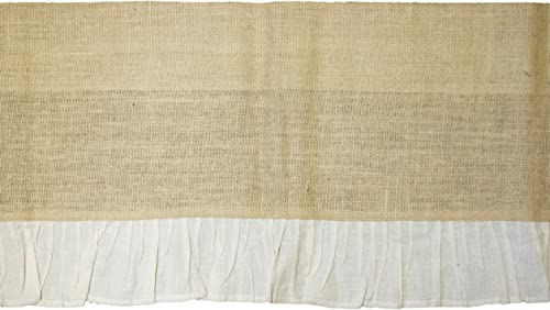 Burlap and Cream Ruffle Country Valance