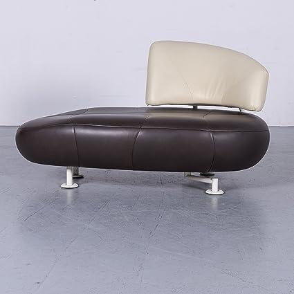 Leolux Kikko Leder Sofa Braun Echtleder Liege Couch #6292