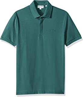 471c7a6a Lacoste Men's Short Sleeve Solid Stretch Pique Regular Fit Paris Polo,  PH5522