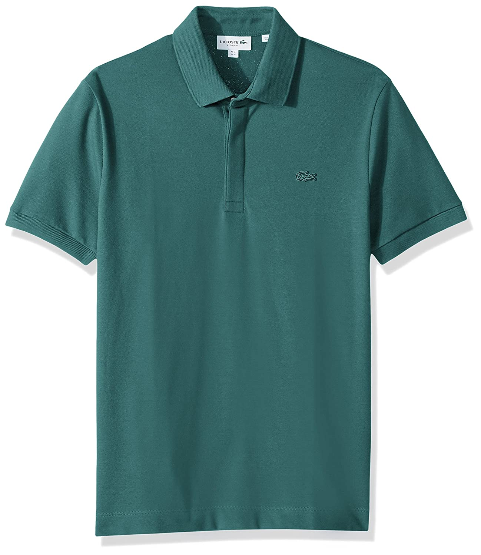 035f0d1bb8eb Lacoste Men s Short Sleeve Solid Stretch Pique Regular Fit Paris Polo