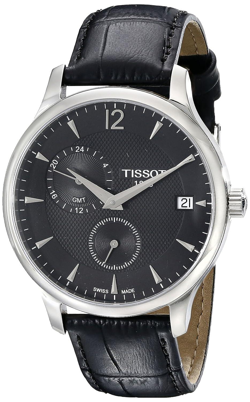 1bc20610331 Amazon.com: Tissot Men's TIST0636391605700 Tradition Analog Display Swiss  Quartz Black Watch: Watches