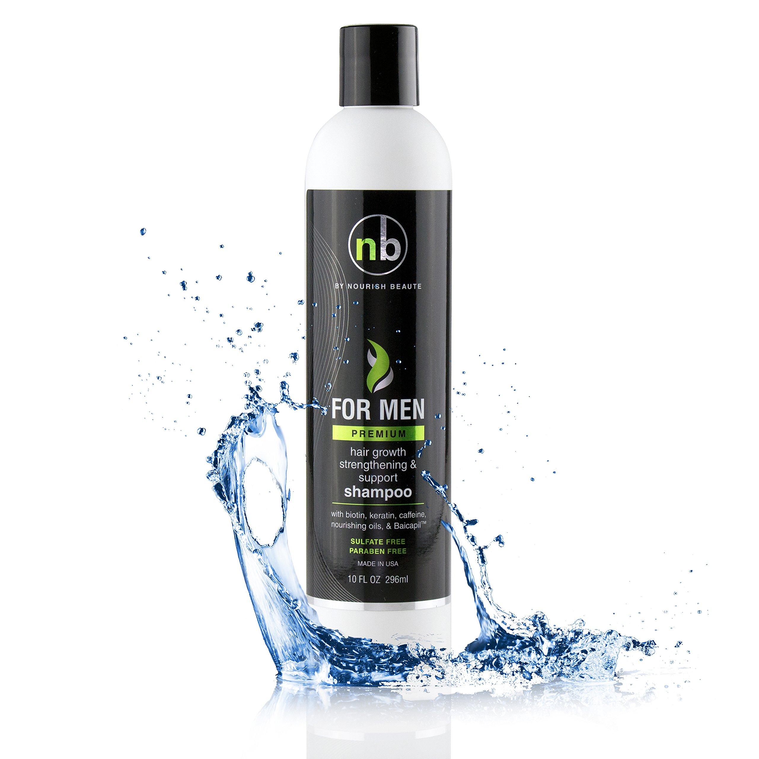 Hair Regrowth Shampoo for Men - Anti Hair Loss Shampoo - Vitamins Hair Growth Support Shampoo (Premium)