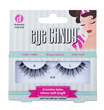 1556f2deaef Eye Candy Strip Lashes 014 Volumise 50's Look Natural False Lashes:  Amazon.co.uk: Beauty
