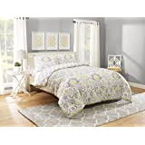 Marble Hill Rayna Comforter Set, Queen, Grey