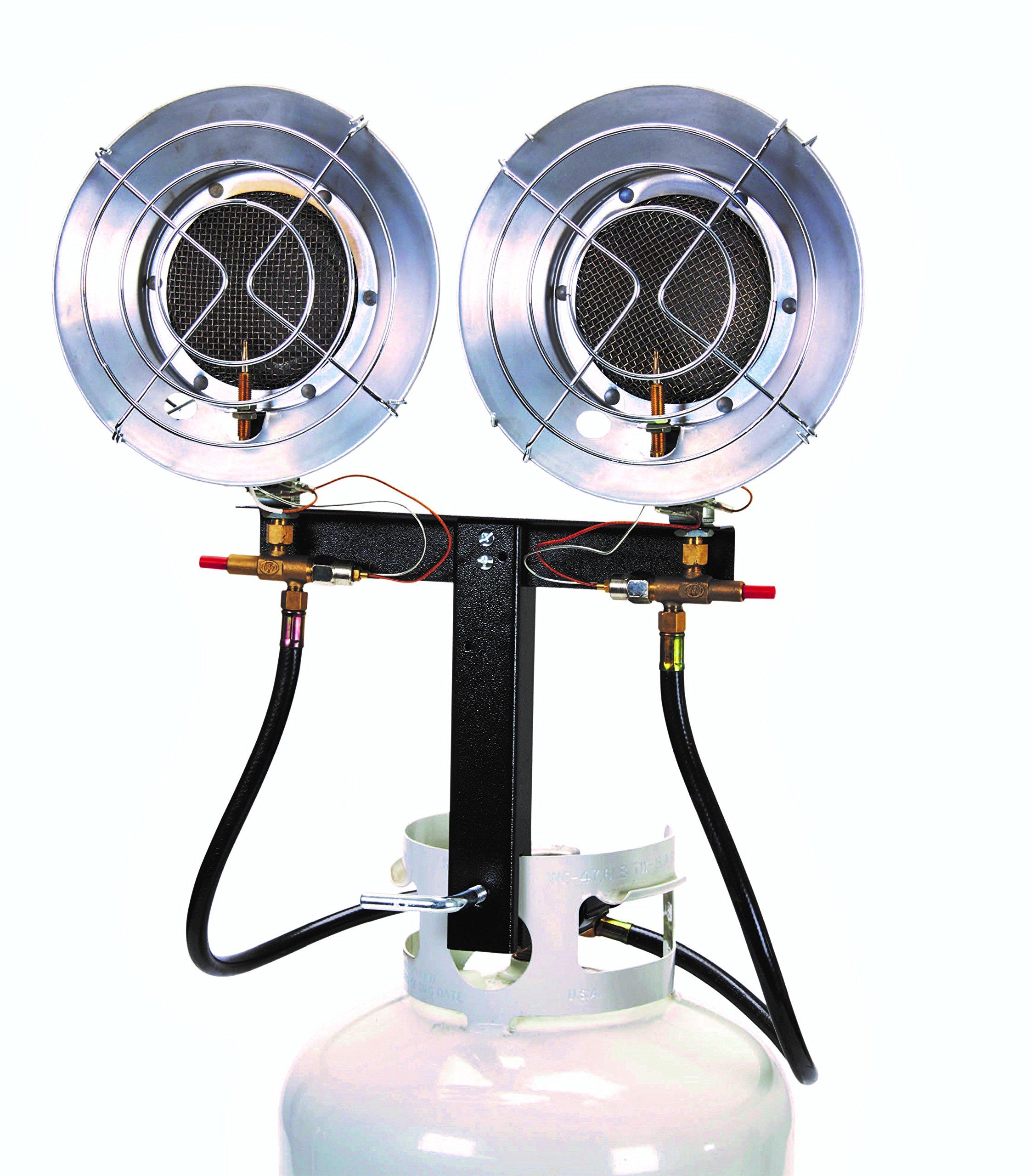 AZ Patio LP-5000-BD Double Tank Top Heater