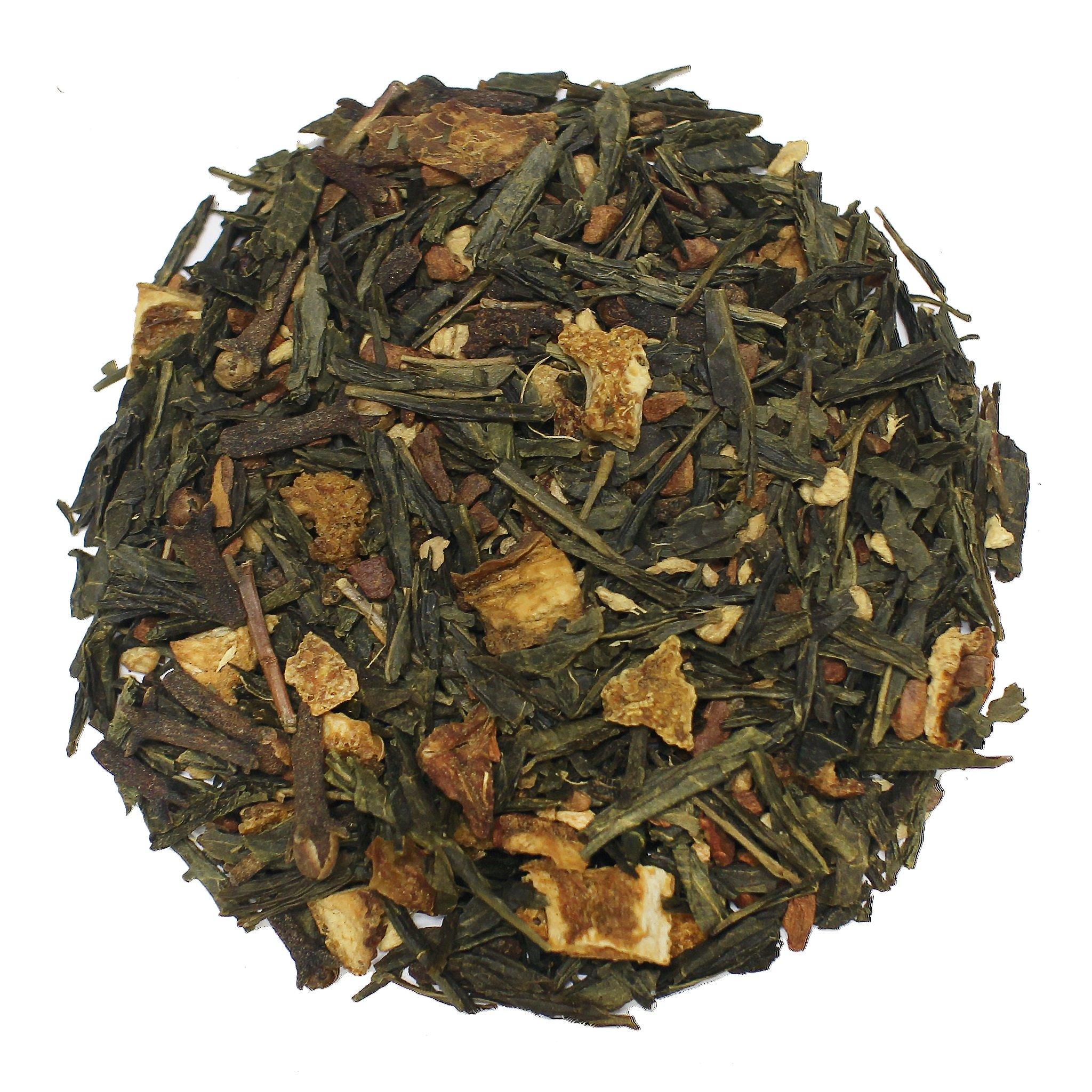 The Tea Farm - Spiced Green Fruit Tea - Loose Leaf Green Tea (16 Ounce Bag) by The Tea Farm