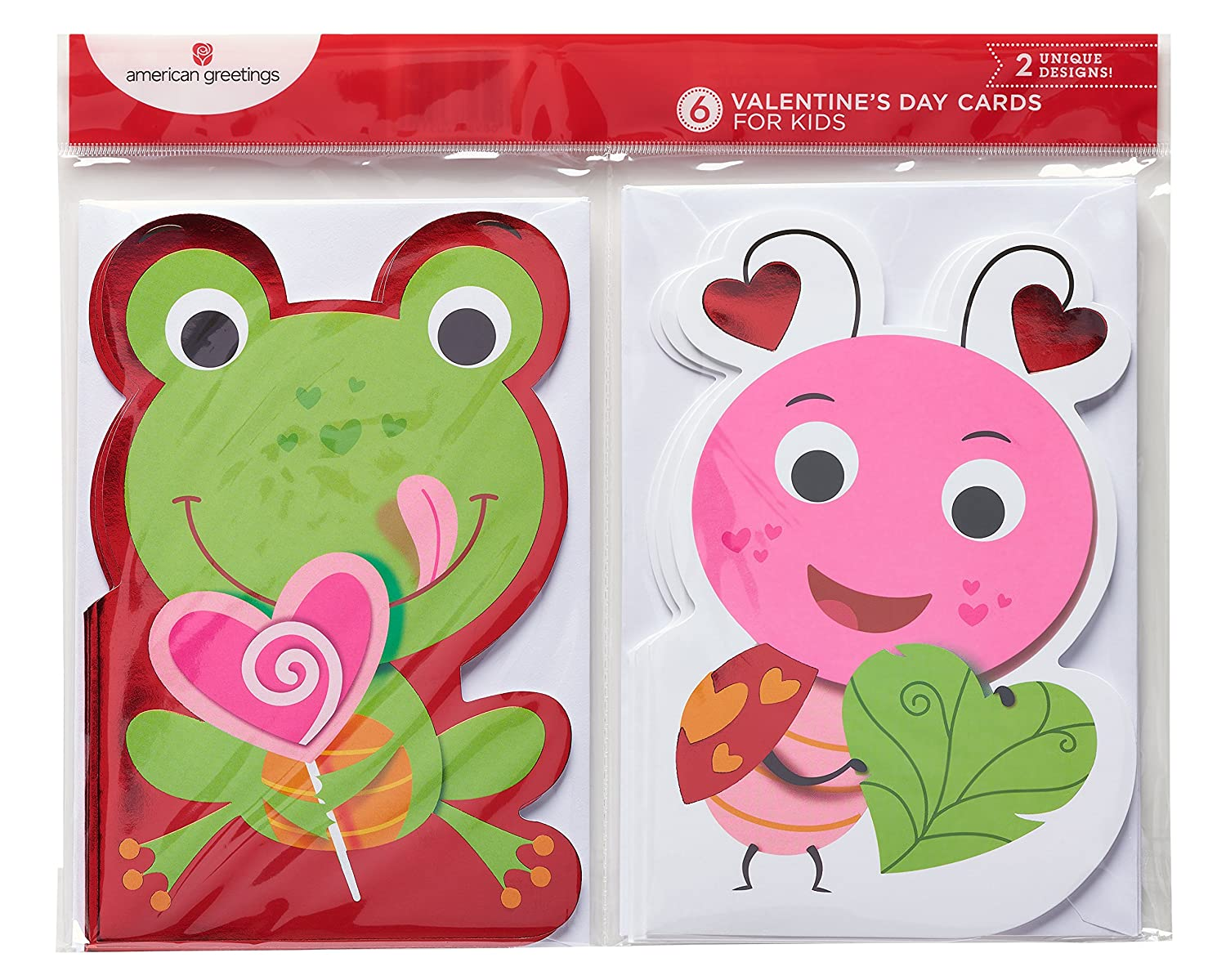 Amazon American Greetings Frog And Bug Valentines Day Card