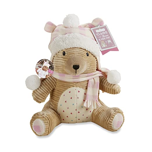Baby Aspen Claire The Bear Plush Toy Plus Hat
