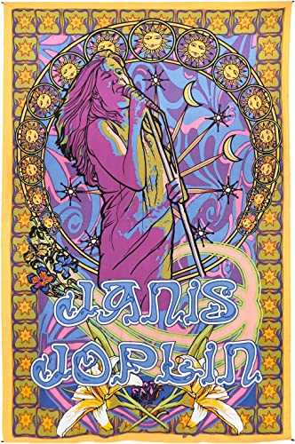Sunshine Joy Janis Joplin Tapestry Hippie Wall Art Huge 60×90 Inches