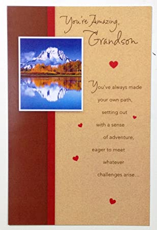 valentine card young adult grandson youre amazing grandson