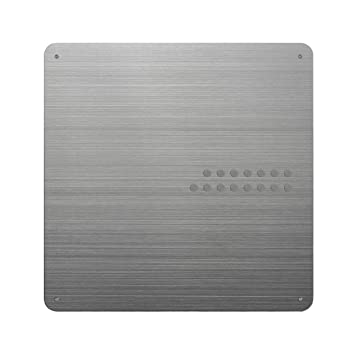 Three By Three Seattle Square Dot Magnetic Bulletin Board, 15 Inches,  Stainless Steel,