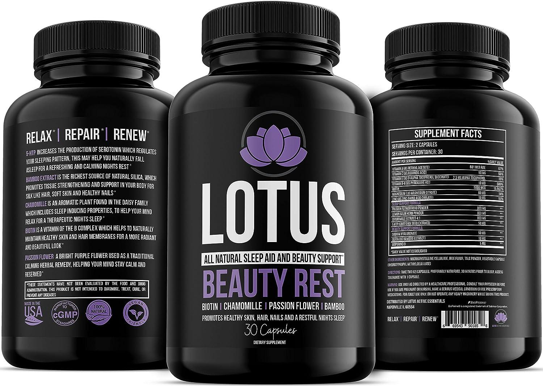 Amazon.com: Respaldo de belleza de loto, ayuda natural para ...
