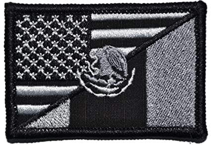 Amazon.com  Mexican USA Flag Patch 2x3 (Black)  Arts e0faea1f4c