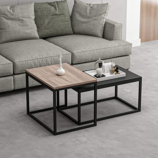 Rosso Legno Ferro MDF Homemania Tavolino da caff/è