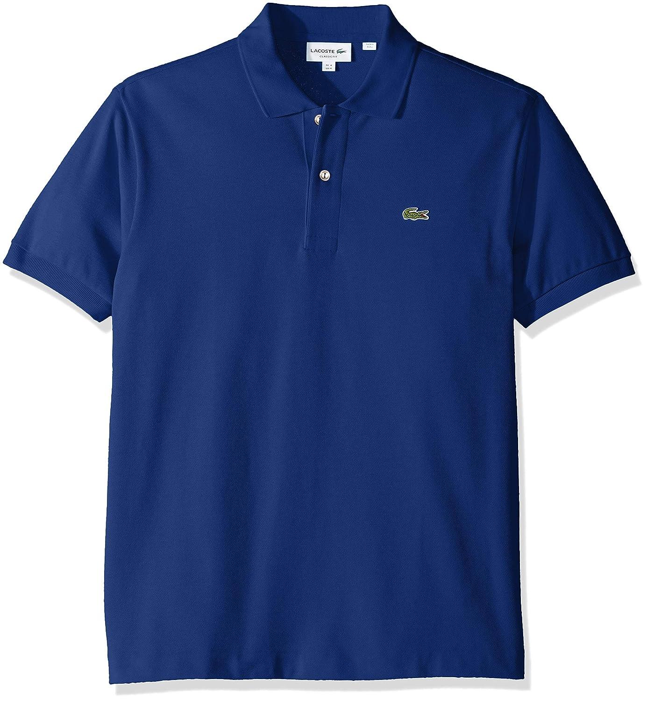 6555d4fac Lacoste Men s Short Sleeve Pique L.12.12 Classic Fit Polo Shirt ...