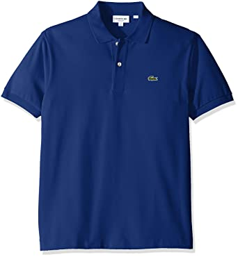 96f9a155e9 Lacoste Men's Short Sleeve Pique L.12.12 Classic Fit Polo Shirt, L1212,  Captain