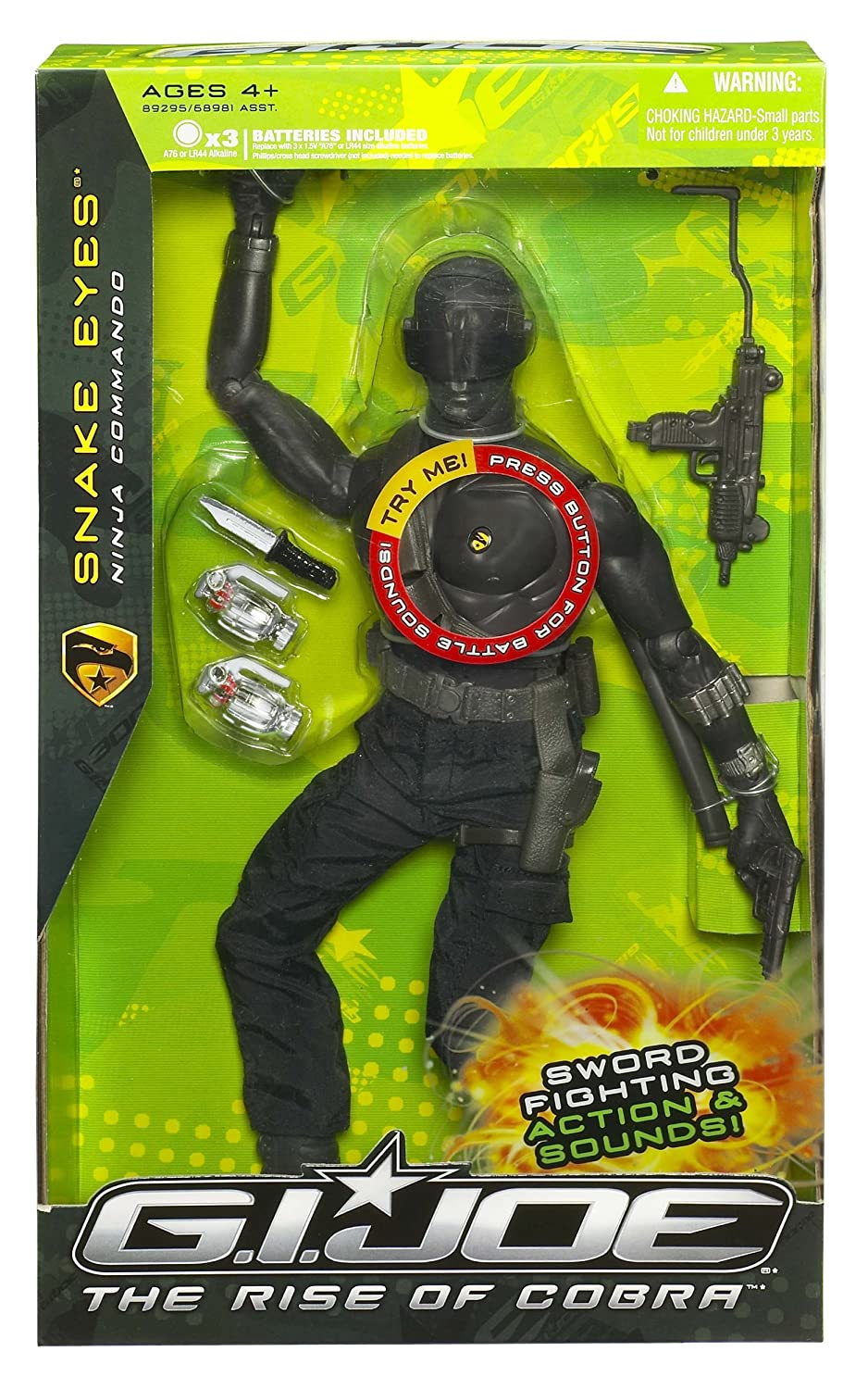 GI Joe Movie 12in Ninja Snake Eyes Figure: Amazon.es ...