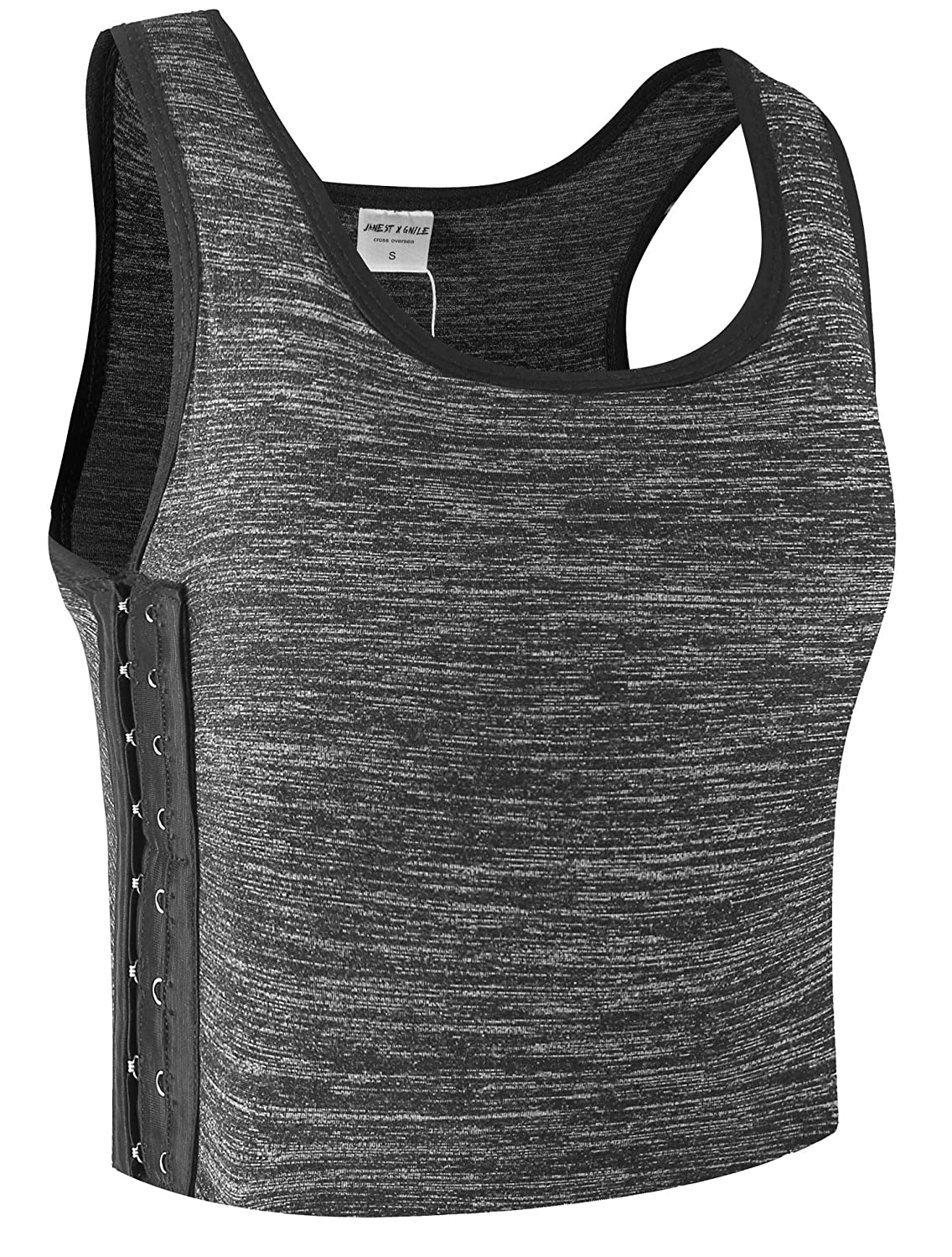Anboer Women Tomboy Lesbian Breathable Cotton Elastic Band Colors Chest Binder Tank Top (M-6XL)