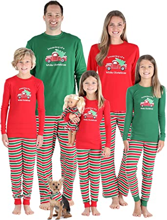 Stripes Christmas Family Matching Pyjamas Men Women Kids PJ Sets Xmas Sleepwear