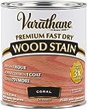 Varathane 307413 Premium Fast Dry Wood Stain, 32 oz, Coral