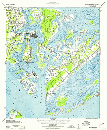 Amazon Com Yellowmaps Fort Fremont Sc Topo Map 1 62500 Scale 15 X