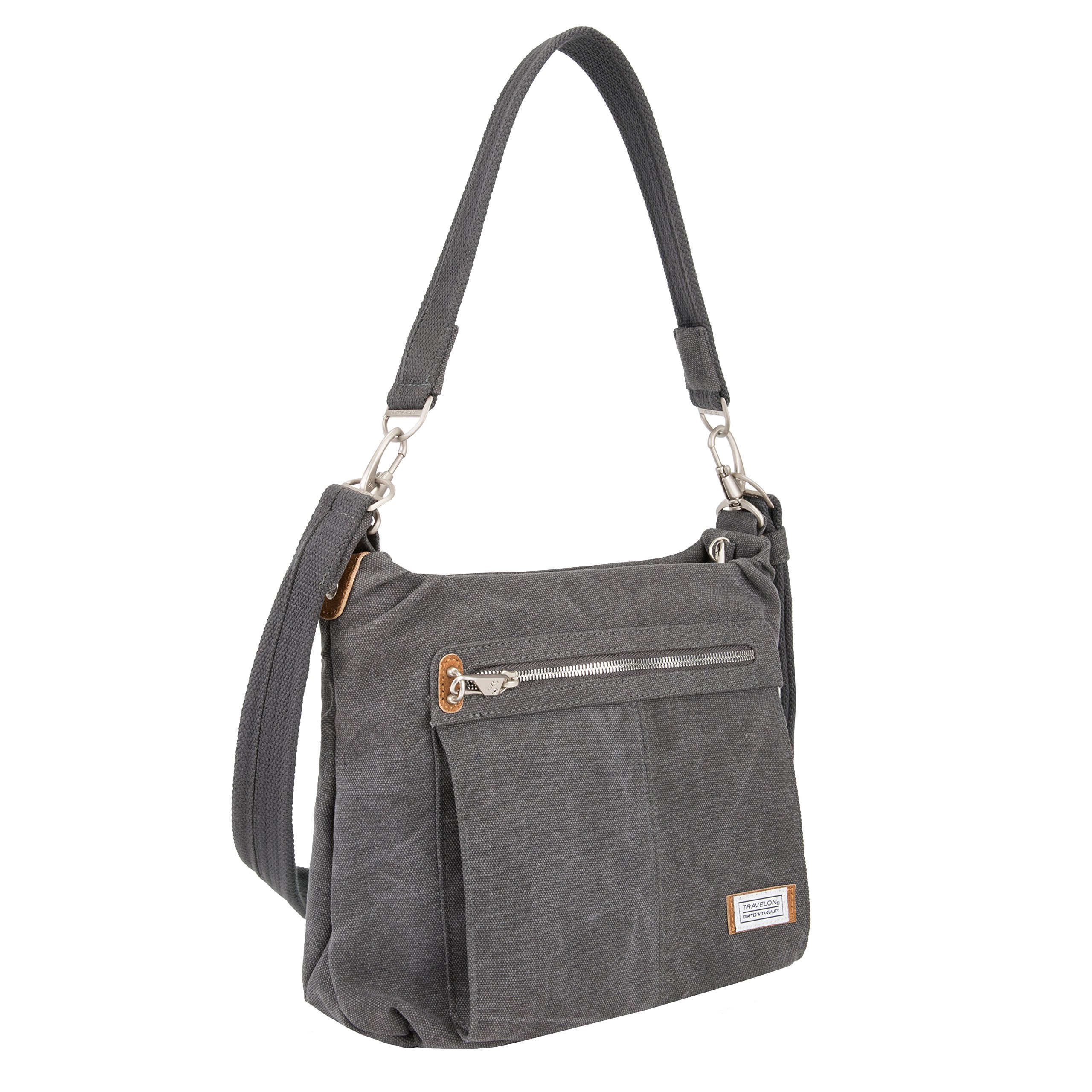 Travelon Anti-Theft Heritage Hobo Bag, Pewter by Travelon