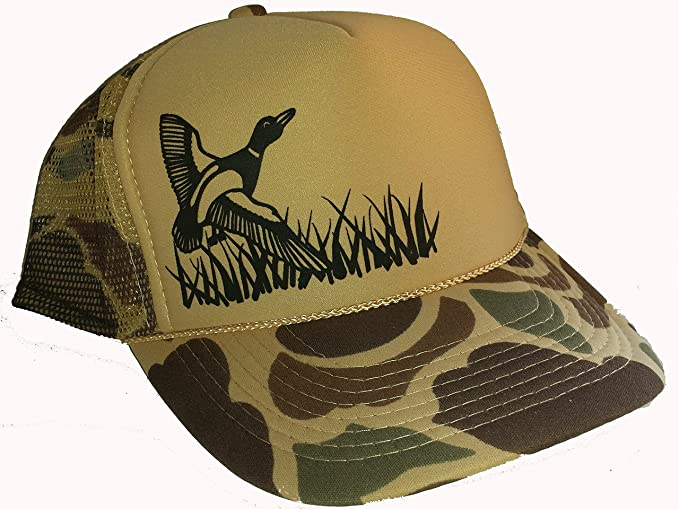 Amazon.com  Tan Camouflage Camo Duck Hunting Mesh Trucker Hat Cap ... 34a9652173c