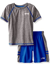STX Little and Big Boys  2 Piece Performance Athletic T-Shirt and Short Set ea582aa99