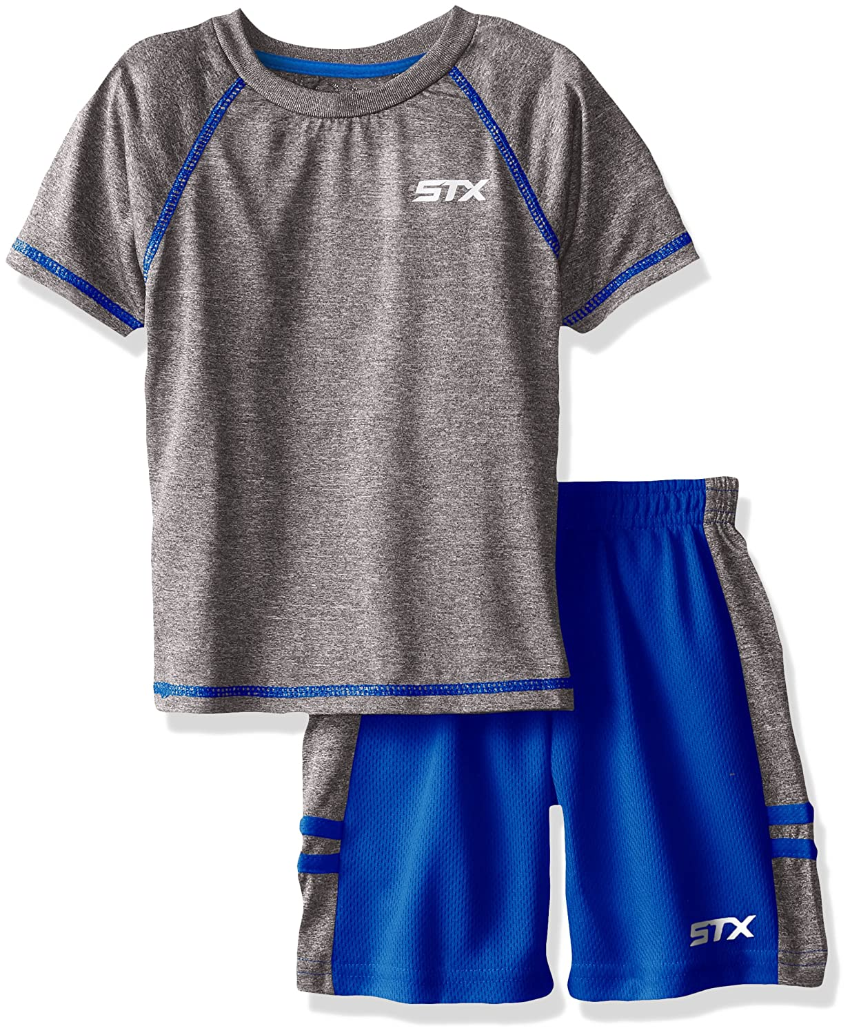 f3c7488da393 Top6: STX Little and Big Boys' 2 Piece Performance Athletic T-Shirt and  Short Set
