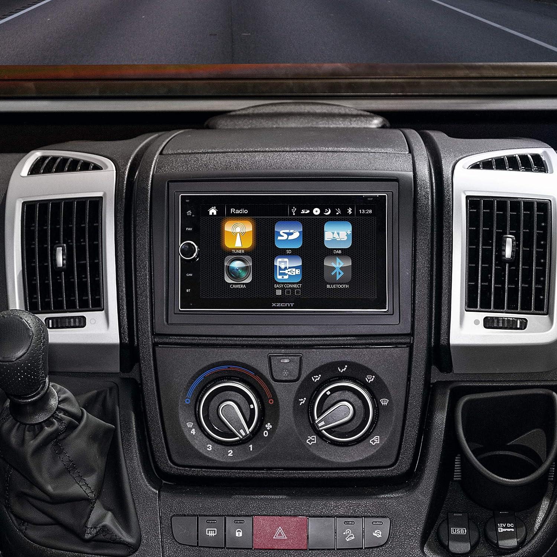 Xzent X 222 Infotainer 2 Din Mediencenter Multimediasystem Fürs Auto Mit 16 5 Cm 6 5 Touchscreen Display Autoradio Mit Dab Bluetooth Usb Hdmi Navigation