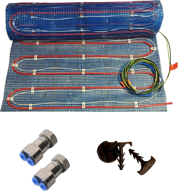 HoWaTech Variant Warmwasser /& Elektro Fu/ßbodenheizung Set ohne Regelung Heizfl/äche:2.50m/²