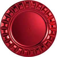 FANTASTIC :)  Round 13 Inch Plastic Charger Plates with Eletroplating Finish