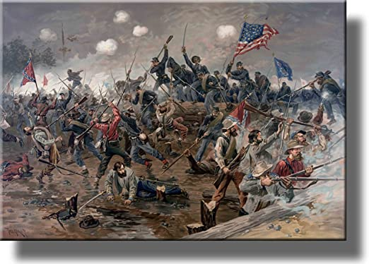 Civil War Battle of Gettysburg Wall Art Deco Oil painting HD print on canvas