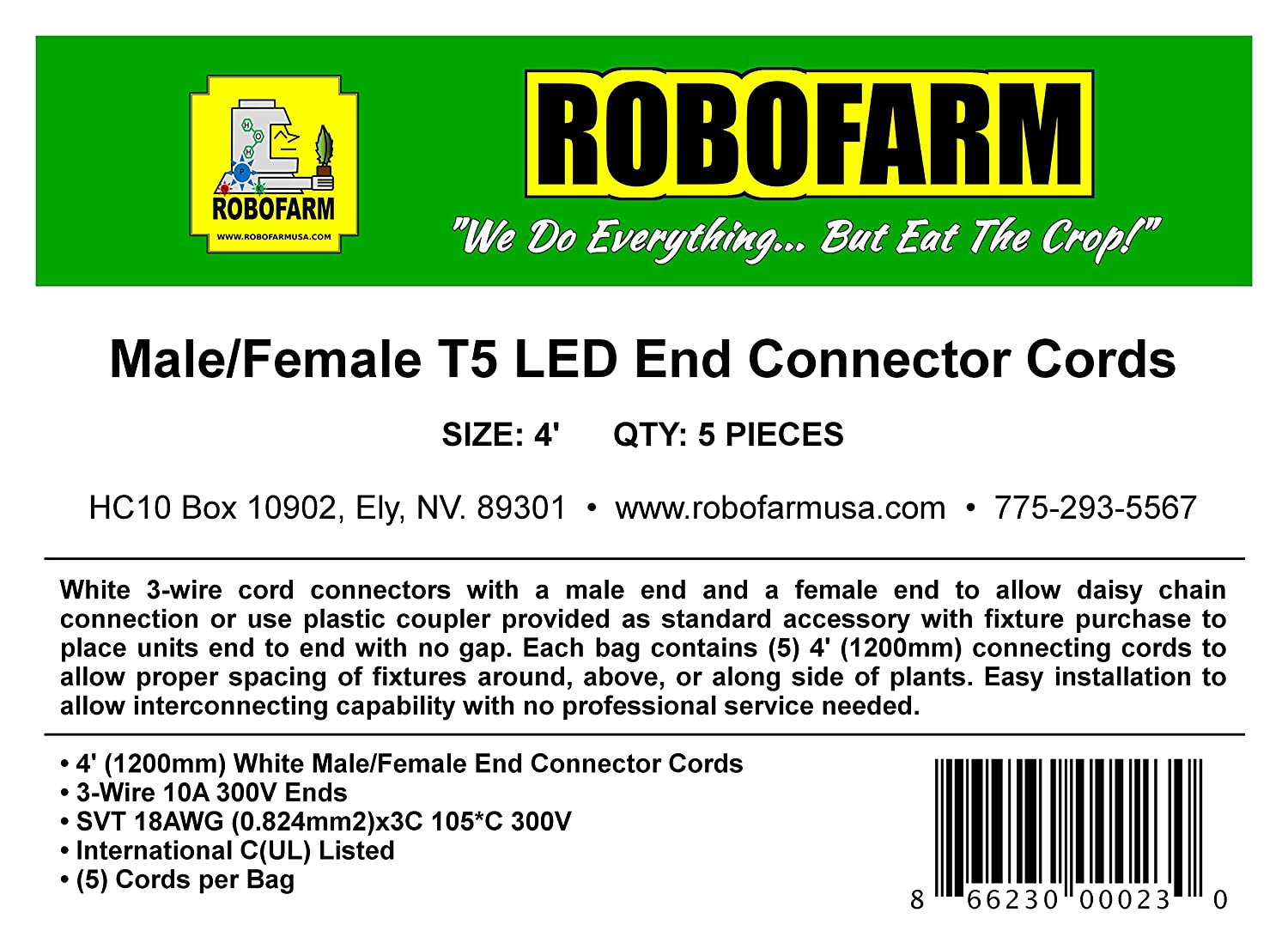 Wiring Diagram 3 Prong Male Plug End Schematic Diagrams A Amazon Com 4 Female T5 Led Connector Cords For Robofarm Wire Range Outlet