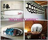 FITactic Metal Display Wall Rack Set for SUP Board, Surfboard, Wakeboard, Kiteboard, Snowboard, Longboards, Shortboard Storage Management