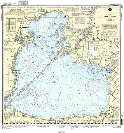 lake st clair fishing map Amazon Com Noaa 14850 Lake St Clair Fishing Charts And Maps lake st clair fishing map