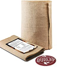 "Burlap Table Runner Roll - 14"" Wide x 50 Yards Long. NO-FRAY with FINISHED Edges. Burlap Fabric Roll Perfect for Weddings, Table-Runners, Decorations & Crafts. Decorate Without Mess."