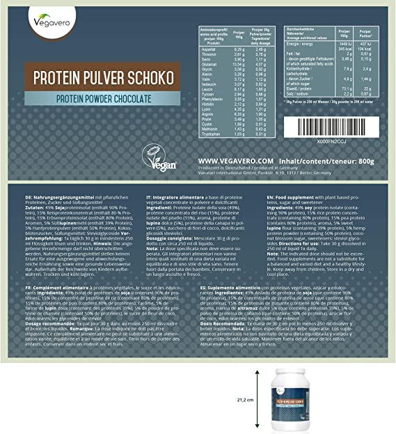 Proteína Vegana | Soja + Arroz Integral + Altramuz + Guisante ...