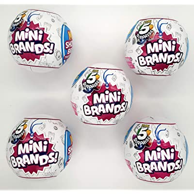 5-Surprise Mini Brands Collectible Capsule Ball by Zuru - 5 Ball Bundle: Toys & Games